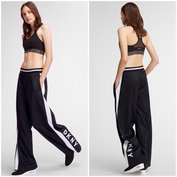 SALE ✨ DKNY SPORT Flare Leg Track Stripe Logo Pant
